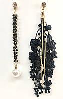 Ассиметричные серёжки с французским кружевом