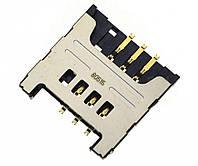 Слот (коннектор) сим карты для Samsung E2600, E2652, E3210, i5510, i9000, i9001, i9220, N7005, S3350 Original