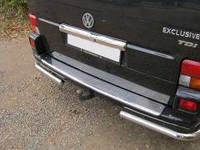 Защита заднего бампера (Углы d60mm) Volkswagen t4 (Фольксваген T4), нержавейка