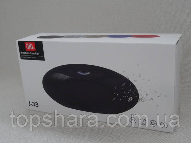 Колонка портативная Bluetooth JBL Wireless Speaker J-33 цвет черный