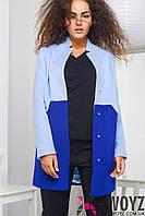 Стильное пальто прямого кроя PL-8624, разные цвета, р 46-48, фото 1