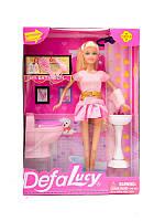 Кукла Defa Lucy 8200 с мебелью для ванной
