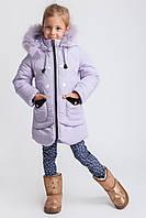 Пальто зимнее детское удлиненное