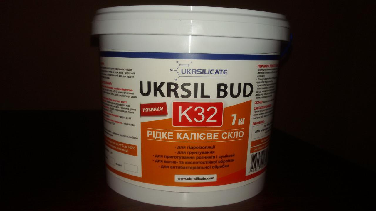 Рідке скло калієве UKRSIL BUD K 32. 1 л
