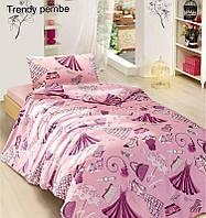 Полуторное детское постельное , хлопок ранфорс. Altinbasak (Турция), Trendy pink - полуторный