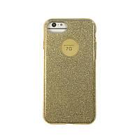 Чехол силиконовый Aspor Mask Collection золотой для iPhone 7