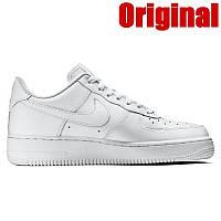Кроссовки мужские Nike Air Force, цвет - белый, натуральная кожа, подошва