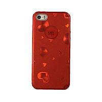Чехол силиконовый Aspor Mask Collection Красные сердечки для iPhone 5s