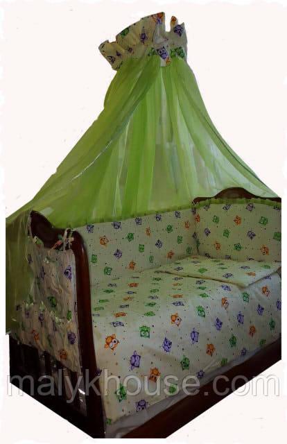 Комплект в детскую кроватку Совушки
