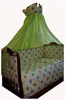 Комплект в детскую кроватку Совушки, фото 1