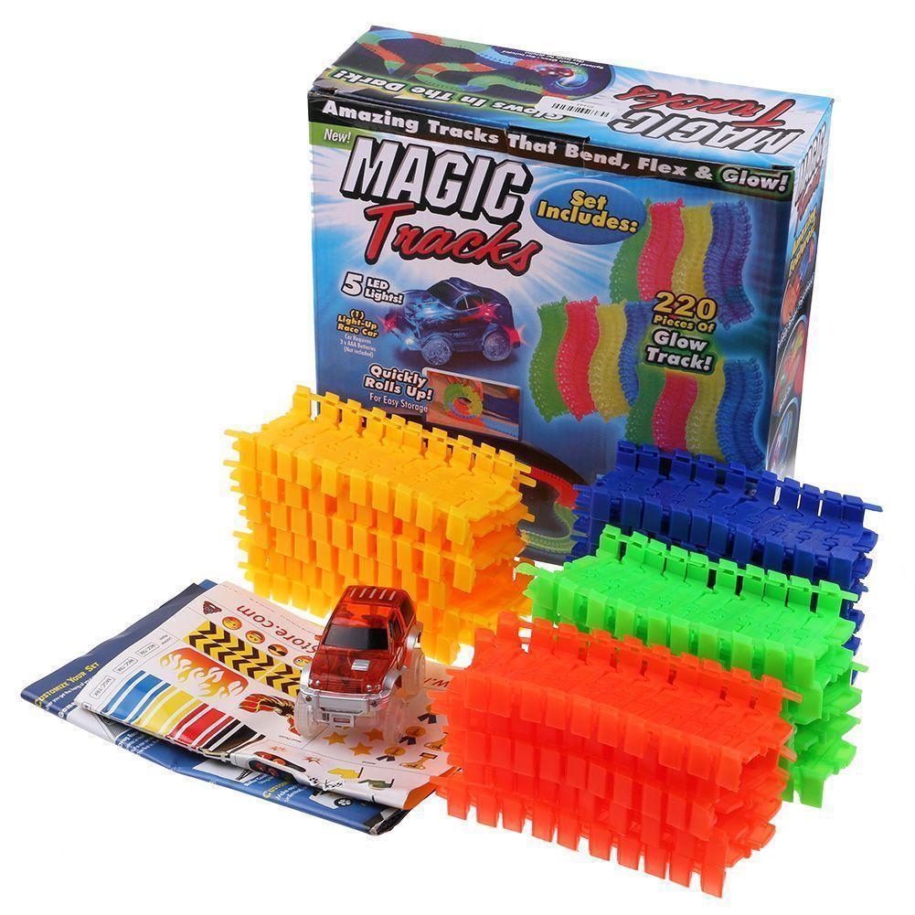 Детский светящийся автотрек Magic Tracks (164 детали + машинка)