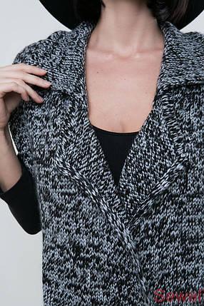 Теплый вязаный женский жилет, фото 2