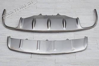 Накладки на бампера обвес Porsche Macan
