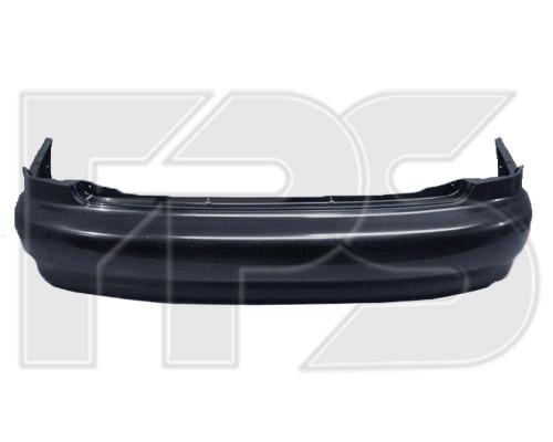 Задний бампер Daewoo Lanos / Sens 98- Седан, черный, без шины (T150) (