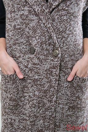 Модный вязаный женский жилет, фото 2