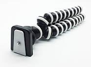 Штатив осьминог средний черно-белый для видеокамер, фотоаппаратов, фото 2