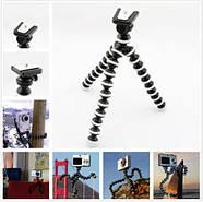 Штатив осьминог средний черно-белый для видеокамер, фотоаппаратов, фото 7