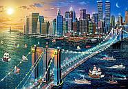 """Пазлы касторленд на 500 элементов. """"Нью-Йорк. Бруклинский мост"""". Полный ассортимент. Польша оригинал, фото 2"""