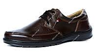 42 р Чоловічі туфлі коричневі вітчизняного виробництва (ЮТ-21к)