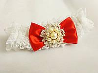 Магазин свадебных аксессуаров Svadba Loveпредставляем Вашему вниманию свадебную подвязочку Wedding SG9. Цвет