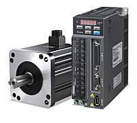 Серводвигатель + сервопривод, 750W, 1 фаза, 230V, ном.момент 2,39Нм., 3000RPM. энкодер 17 бит