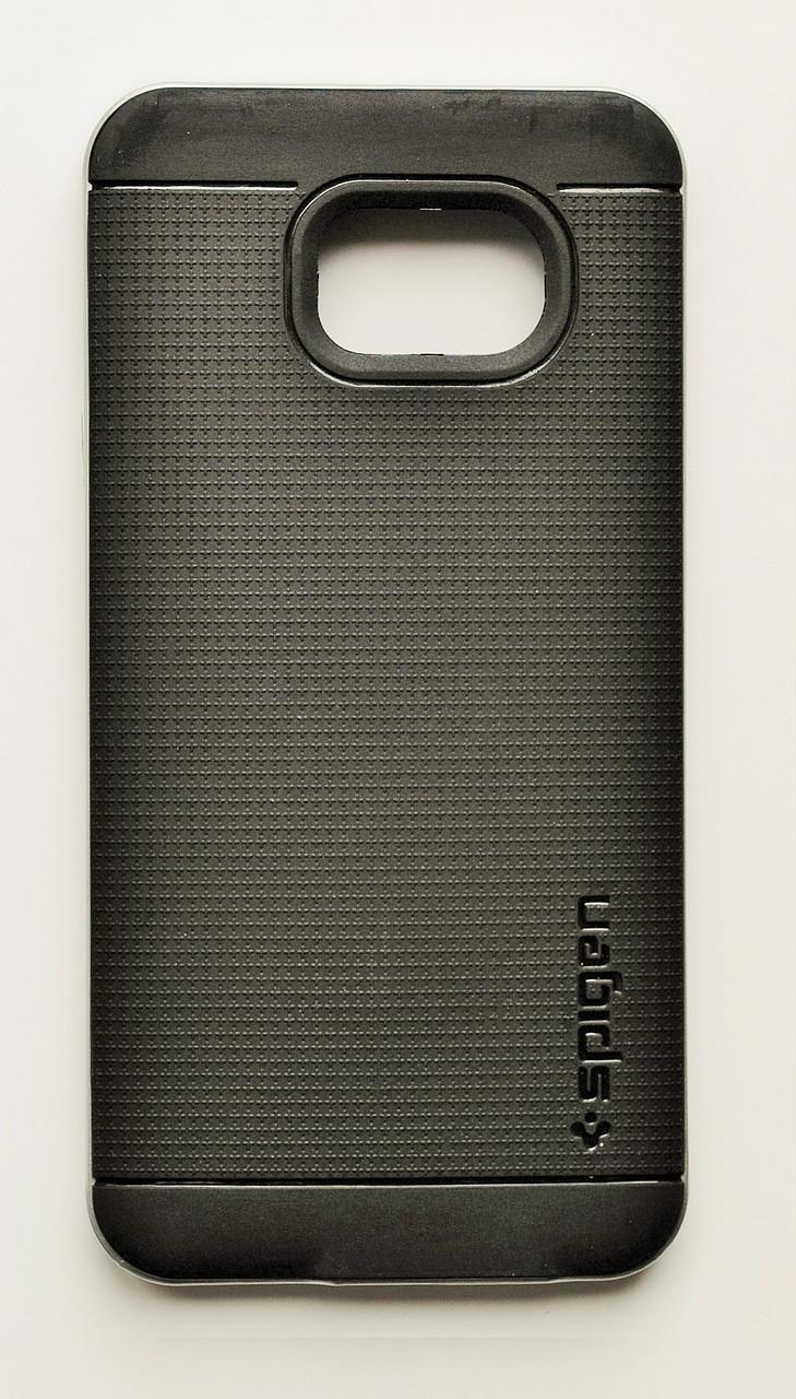 Чехол на Самсунг Galaxy A3 (2016) A310F SGP Case Силикон Черный Серебро
