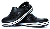 46 р Мужские кроксы шлепанцы черного цвета (918ч)