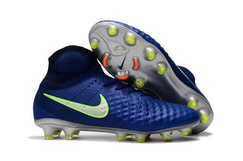 Бутсы Nike Magista Obra 2 FG с носком, синий