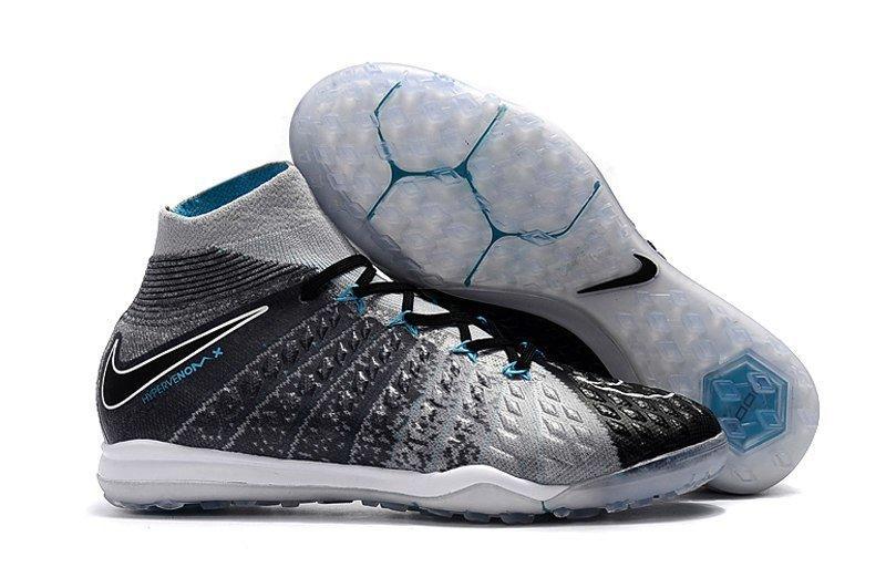 0419bd11 Бутсы сороконожки Nike HypervenomX Proximo TF grey с носком -  Интернет-магазин