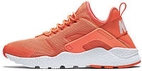 "Женские кроссовки Nike Air Huarache Ultra ""Bright Mango/White"" (найк хуарачи) коралловые"
