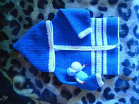 Кофточка для малыша из пряжи ЯрнАрт Джинс