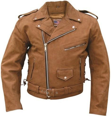Куртка мужская кожа буйвола Mens Brown Motorcycle Jacket Premium Buffalo Leather - Интернет-магазин «Sportive» в Киеве