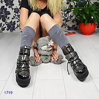 Сапоги женские луноходы цвета никель