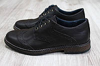 Туфли на шнурках коричневая кожа