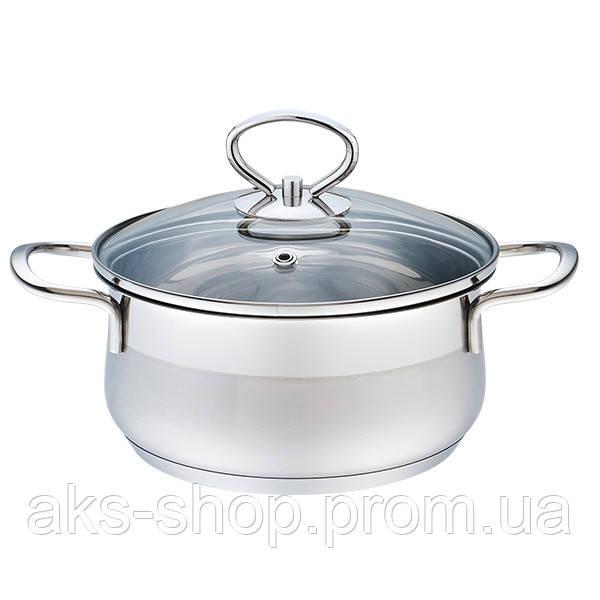 Кастрюля с крышкой из нержавеющей стали Maestro MR-3508-22 (3.8 л)   набор посуды Маэстро   кастрюли Маестро