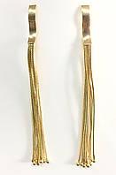 Серьги-подвески металлические в золотом/серебряном цвете
