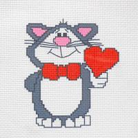 """Канва с рисунком для вышивки крестом  """"Кот"""""""