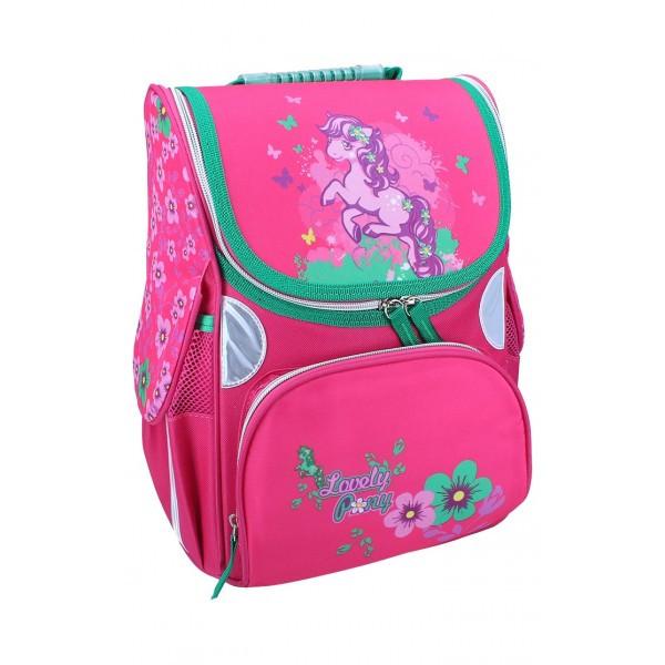 Рюкзак ранец школьный каркасный Pony RAINBOW