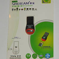 Картридер siyoteam sy-t50 с micro sd mini (для микро сд карт)