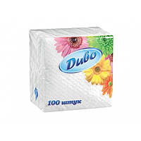Бумажные салфетки Диво 1-слойные белые, 100 шт