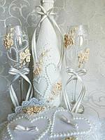 Свадебные бокалы цвет айвори Новинка