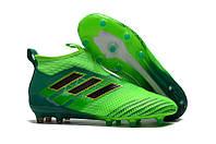 Мужские бутсы Adidas Ace 16+ Purecontrol зеленый, фото 1