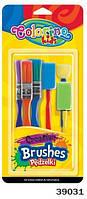 """Набор Кисточек для рисования """"Креатив"""" (необычная форма), Colorino, 39031"""