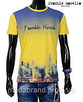 Футболка мужская летняя Frankie Morello-1211 желтая