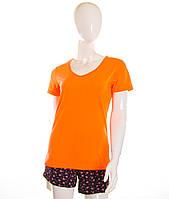 Женская футболка оранжевый неон