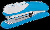 Пластиковый степлер buromax bm.4233-14 Шахматка голубой на 20 листов (скобы №24; 26)