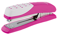Степлер пластиковый, 20л., ШАХМАТКА (скобы №24; 26), розовый bm.4233-10