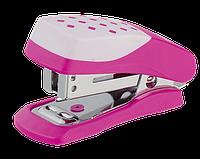 Степлер пластиковый, 20л., ШАХМАТКА (скобы №24; 26), розовый bm.4232-10