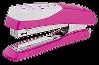 """Степлер пластиковый """"Шахматка""""12л., (скобы №10), розовый bm.4131-10"""