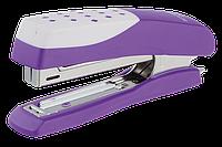 """Степлер пластиковый """"Шахматка""""12л., (скобы №10), фиолетовый bm.4131-07"""